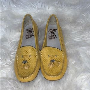 Rieker Anti stress yellow leather loafers 40